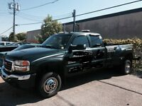 depaneuse , wheel lift , towing , remorqueuse GMC 3500 duramax