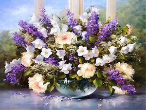 Diamond Painting Craft Kit - Vase With Lilacs