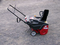 Small snowblower perfect for driveway and walkways