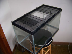 Reptile Tank  and Cover/Access Door & Heater   $20