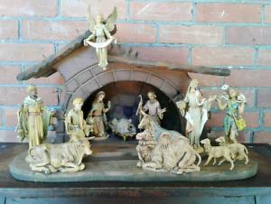 Fontanini 14 Piece 1960-70's  Spider Mark Nativity Set, Plus a M
