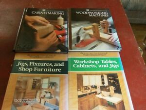 4 Hard cover Woodworking Books. $2.00 each