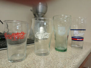 True Vintage - 4 Coca Cola Nostalgia Glasses