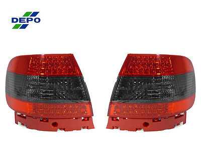 DEPO 1996-2001 AUDI A4 / S4 B5 CHASSIS 4DR SEDAN LED RED / SMOKE TAIL LIGHTS (01 Audi A4 Tail Lights)