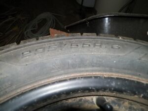 205/55/R16 Nordic Good Year WinterTires & Rims in Mint Condition