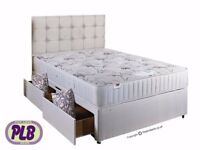 Payment On Delivery!! Brand New Double Divan Base With 1000 Pocket sprung mattress Range