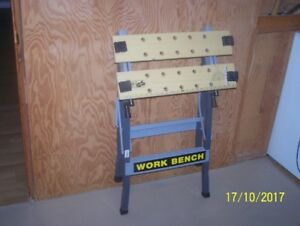 Fold up portable work bench