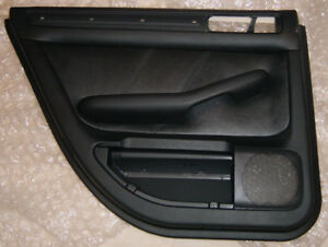 Genuine Audi A6 C5 Rear Left Interior Door Panel Black Leather