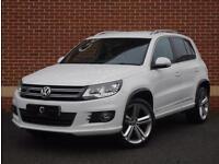 2014 14 Volkswagen Tiguan 2.0 TDI BlueMotion Tech R-Line (White, Diesel)