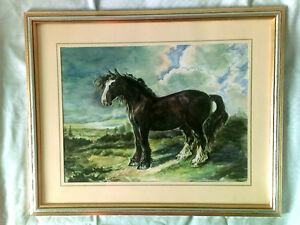 Water-color Painting Horses