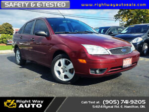 2007 Ford Focus SES | LOW KMS | SAFETY & E-TESTED