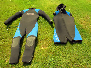 7 mm BARE wetsuit Men's M/L (includes hooded shorty)