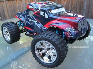New RC Brushless Electric Truck TOP2 Version LIPO, 4WD 2.4G London Ontario image 1