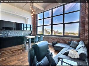Superbe Loft style New-Yorkais / Stationnement intérieur