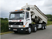 Volvo FL 12 340 8 X 4 Alloy Body Tipper with Steel Reinforced Floor