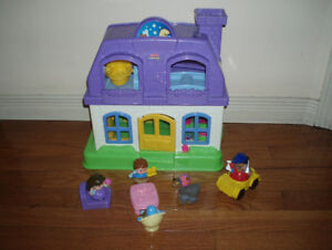 Fishel Price Little People Sound House, Farm, Car and Airplane
