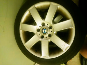 OEM factory BMW E46 coupe wheels with tires 225-45-17