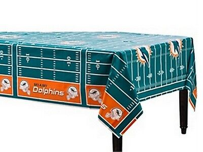 Miami Dolphins Party Decorations (NFL Miami Dolphins Table Cover Decoration -)