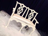 Stunning Bridal Love Seat for Rent!