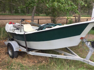 16' WF Clackacraft Drift Boat with galvanized trailer for Sale