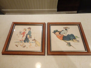 "Two Vintage Norman Rockwell Picture Prints from 1960's 12""x12.5"" Kitchener / Waterloo Kitchener Area image 1"