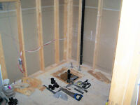 CUSTOM SHOWERS 431-7413 3 YR GUARANTEE WORKMANSHIP WATERPROOFING