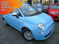 2011 Fiat 500 1.2 POP - Blue - 12 months MOT + Platinum Warranty!