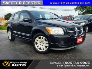 2010 Dodge Caliber SXT   LOW KMS   SAFETY & E-TESTED