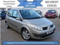 **£35 A WEEK** Renault Scenic 1.6 VVT Dynamique, 5DR MPV, 12 MONTH MOT EW CD RCL
