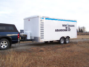 18ft Enclosed Work Trailer - Used Twice
