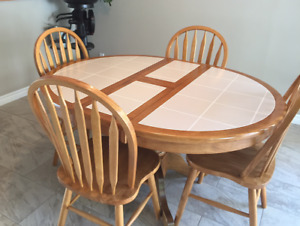 Kitchen dining set with 4 chairs