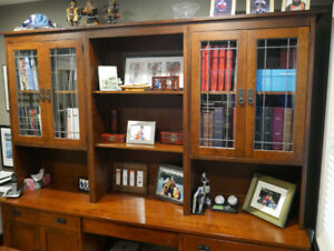 Custom built solid cherry cabinet base unit with 3 top section