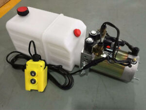 NEW DOUBLE ACTING HYDRAULIC POWER PACK SUPPLY 12V TRAILER PUMP