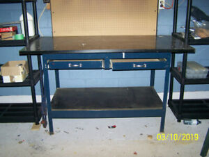 Work Bench with extra large top added