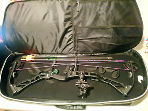 2017 Elite Victory 37 compound bow, Axcel sight and arrows