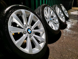 """17"""" inch bmw alloy wheels and tyres 5x120 fitment 1 series 3 series"""