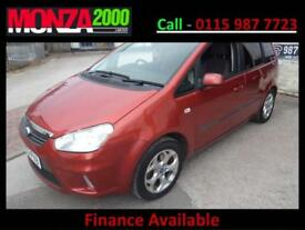 FORD C-MAX 1.8 16v 125 ZETEC MPV NIL DEPOSIT FINANCE WARRANTY SUPERB CONDITION