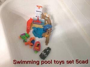 Swimming pool toys set