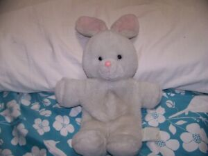 Vintage 1994 Fisher Price White Rabbit Cozies Plush Soft Toy