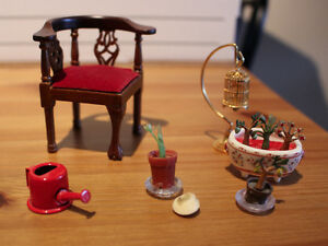 Assorted Dollhouse Furniture and Accessories