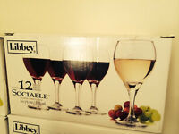120 Libbey Sociable wine glasses