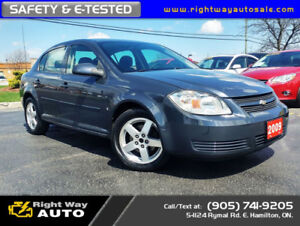 2009 Chevrolet Cobalt LT | LOW KMS | SAFETY & E-TESTED