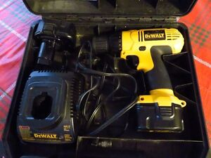 DeWalt Drill with Charger, 2 batteries and case