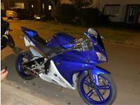 Yamaha YZF 125 blue/white