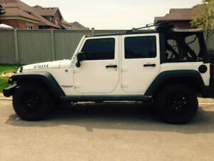 2014 White Jeep Wrangler Willy Edition