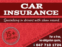 Car Insurance / Auto Insurance - Drivers with Clean Record