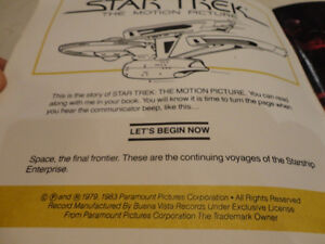 Vintage Star Trek 33 1/3 rpm Record w/ 24 page Read Along Book Kitchener / Waterloo Kitchener Area image 7