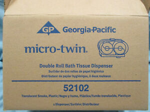 GP Micro-Twin Double Roll Covered Bath Tissue Dispenser, Smoke Stratford Kitchener Area image 6