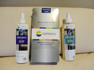 Comerco Stainless Steel Appliance Care Kit - Cleaner & Polisher