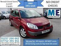 **£45 A WEEK ** Renault Grand Scenic 1.6 VVT, 12M MOT EW CD RCL AC CAM BELT DONE